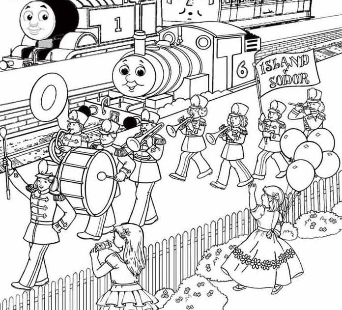 Thomas Saw A Lot Of People Playing Drums The Band Coloring