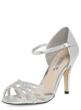 Silver diamante sandals | Wedding stuff | Pinterest | Inspiration