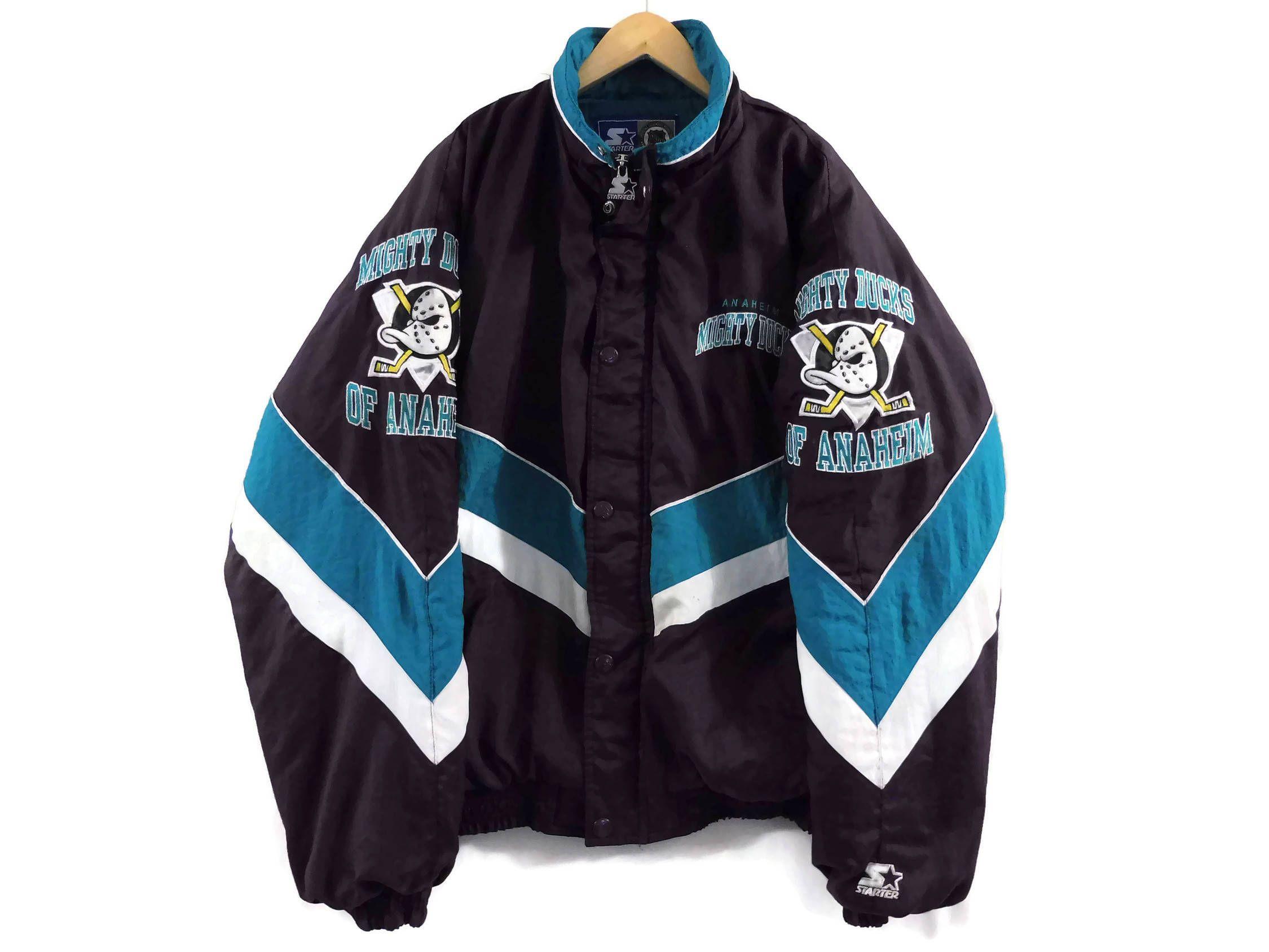 purchase cheap 26879 6ebc7 VTG Anaheim Mighty Ducks Starter Jacket - Large - 90s ...