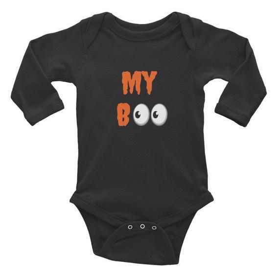 634a68705 Halloween Onesie Infant Long Sleeve Bodysuit Black Shirt Kids ...