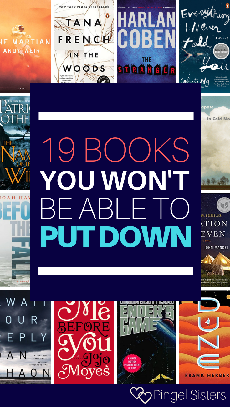19 Books You Can't Put Down // Need a great book? Try these 19 gripping books you can't put down. We guarantee they'll keep you up all night, so make sure you have some time the next day because these are books you can't put down once you begin #bookstoread