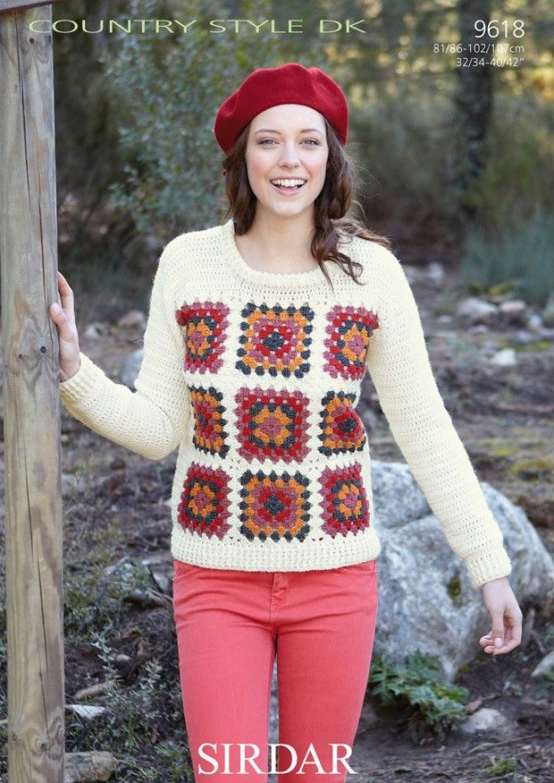 Sweater in Sirdar Country Style DK (9618) | Deramores | pullover ...