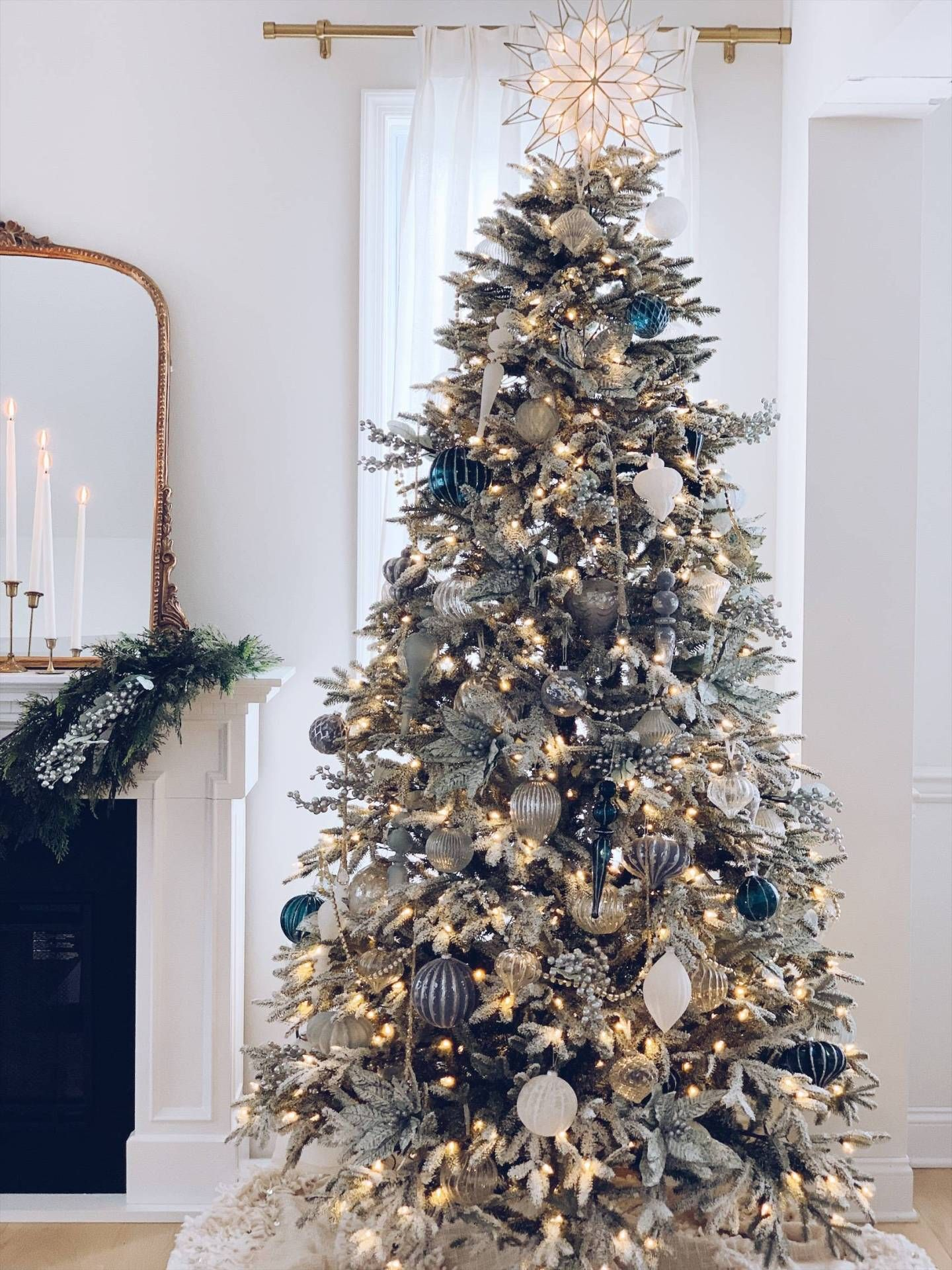 My Balsam Hill Christmas Tree - A Blue and White Christmas - The Pink Dream -   17 christmas tree decor 2020 blue ideas