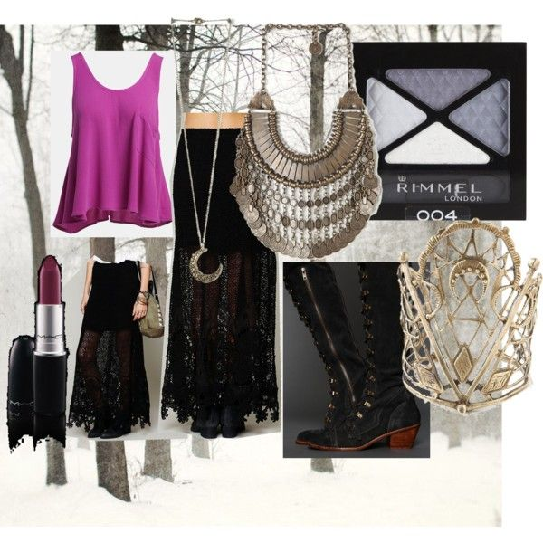 """True Winter gypsy"" by paraelluniverse on Polyvore"