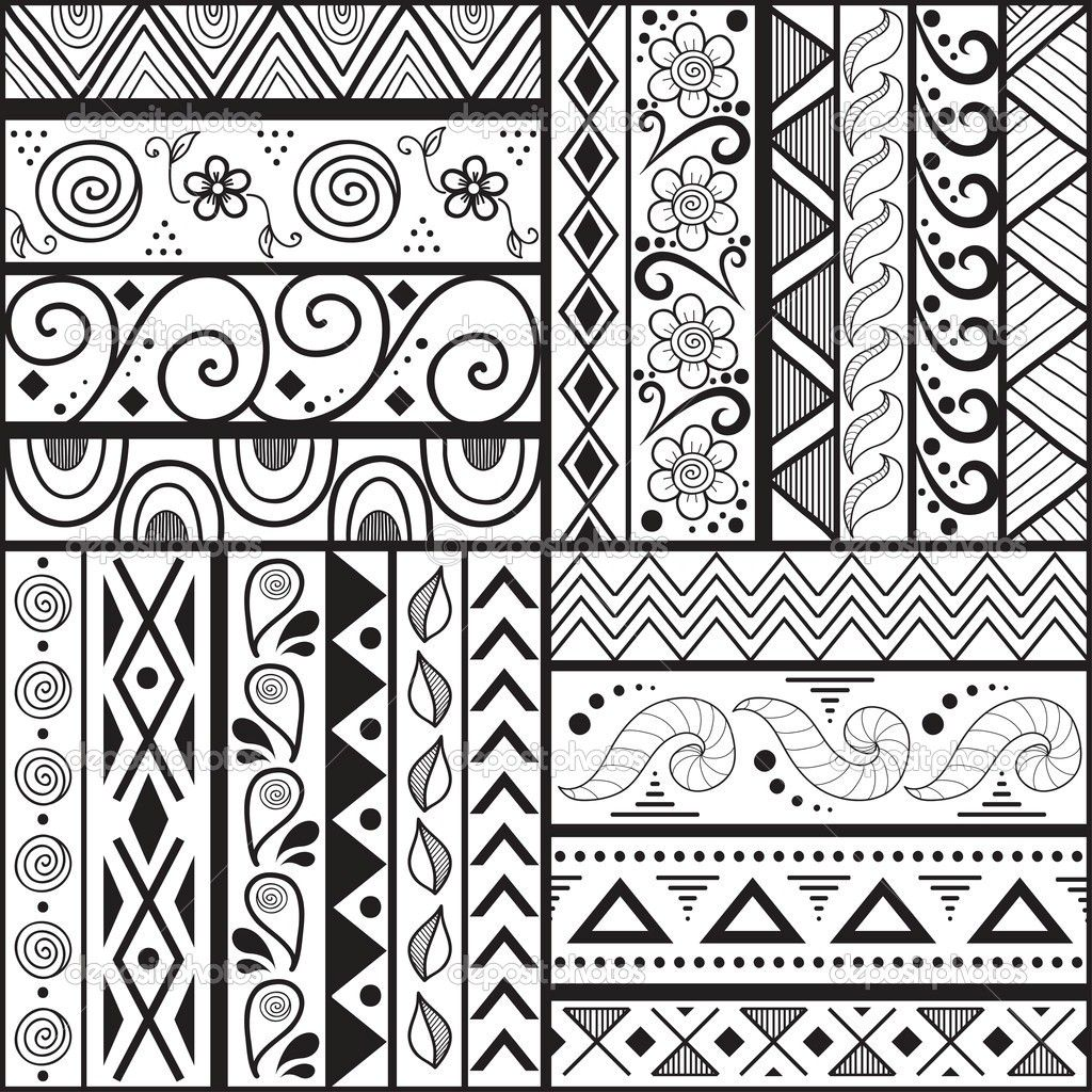 How To Do Line Design Art : Easy art patterns to draw for kids q pattern drawing