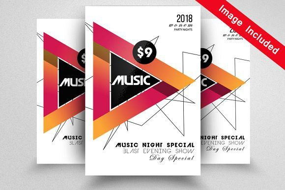 Jazz Music Flyer Templates New Year Party Flyer Templates Pinterest