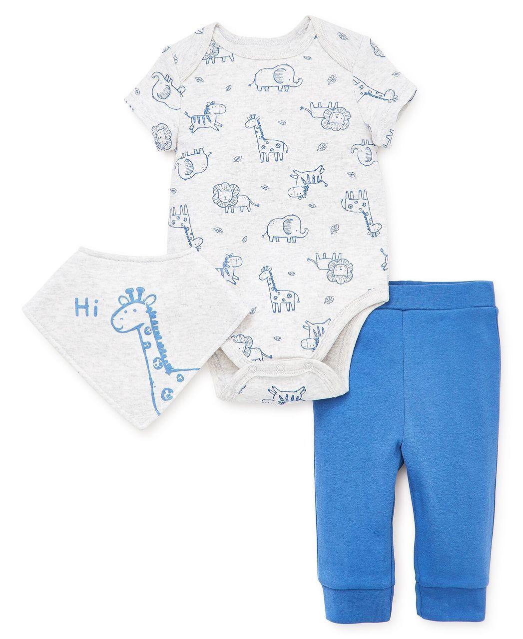 Little Me   Boys Pant Sets   Safari Bandana Bib Pant Set   Baby boy  clothing sets, Baby pants, Outfit sets