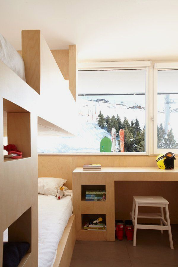 Enticing small bedroom menuires ski resort france design ideas with minimalist wooden bed and charming bunk of eye catching home interior also for apartment many rh pinterest