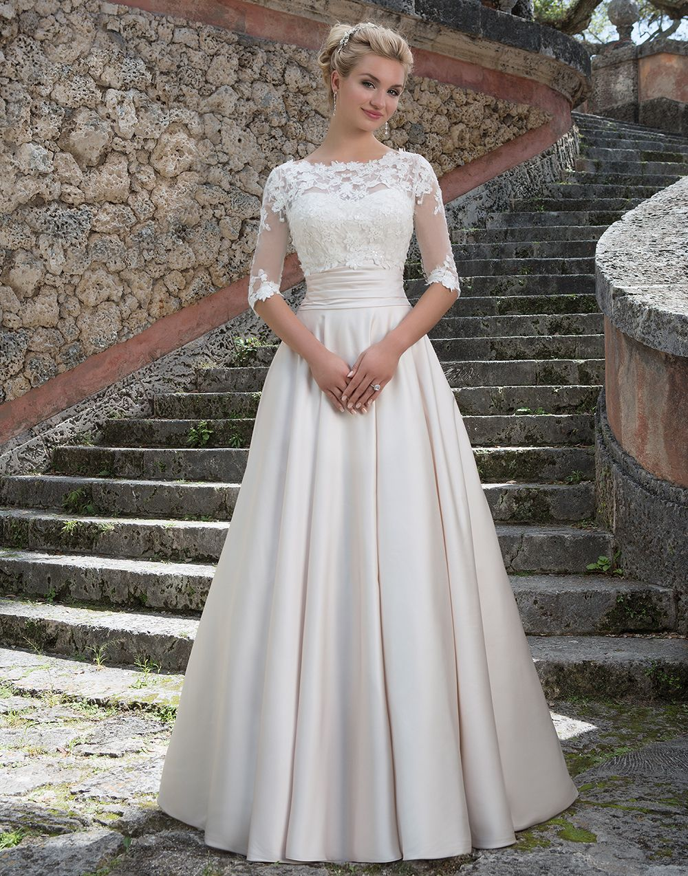Sincerity Wedding Dress Style 3877 This Grace Kelly Inspired