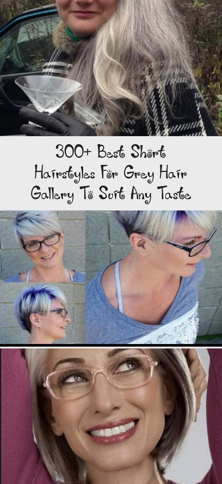 Long Hairstyles For Gray Hair With Glasses Grayhairideas Charcoalgrayhair Steelgrayhair Grayhairgetridof Gal In 2020 Short Hair Styles Hair Styles Cool Hairstyles