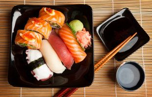 soooo sad!  This article exposes the MANY dangers of eating sushi - my favorite food   :(   I am so considering going vegetarian!
