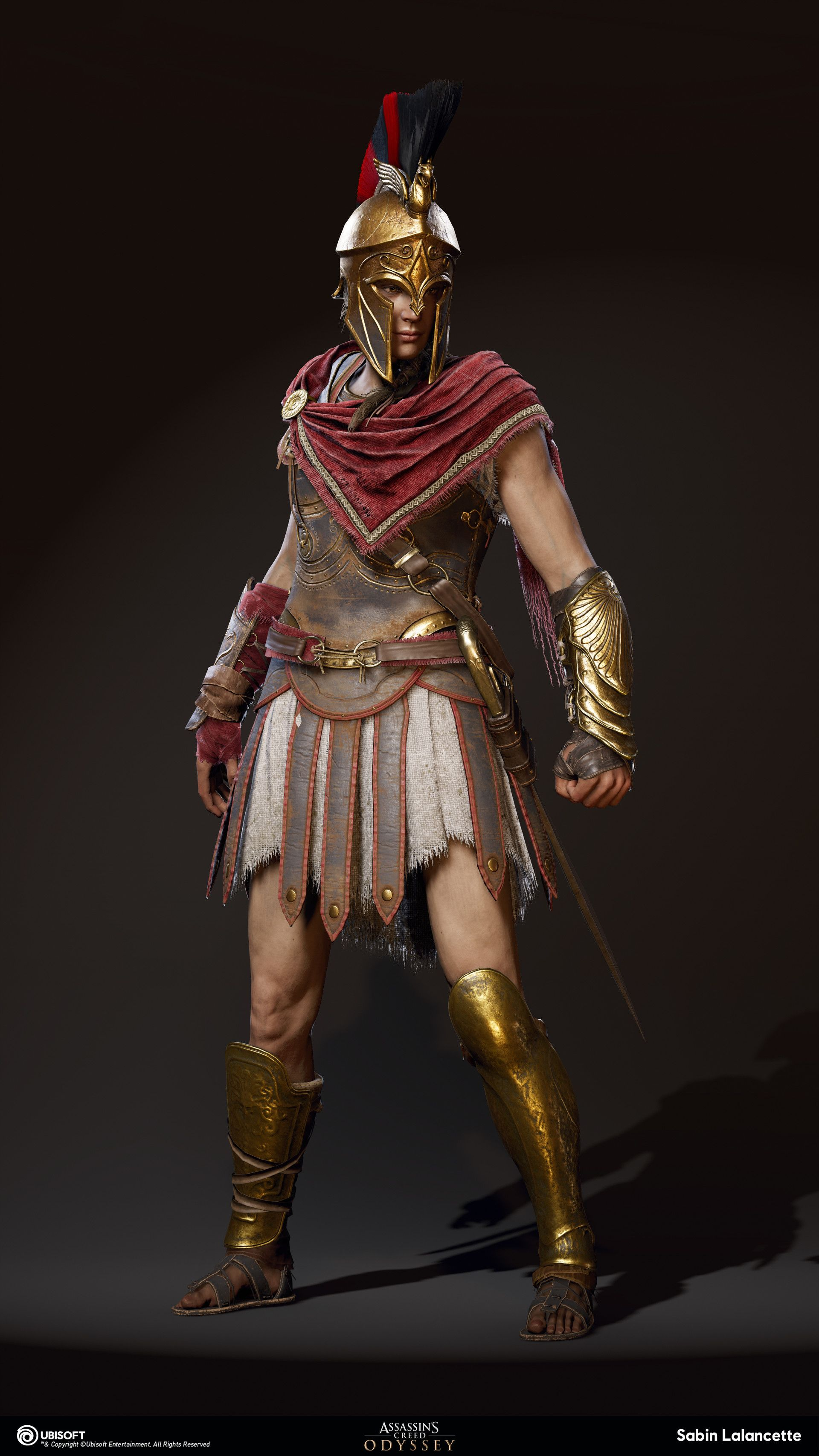 Artstation Alexios Kassandra Outfit Mercenary Sabin Lalancette Assassins Creed Artwork Assassins Creed Assasins Creed