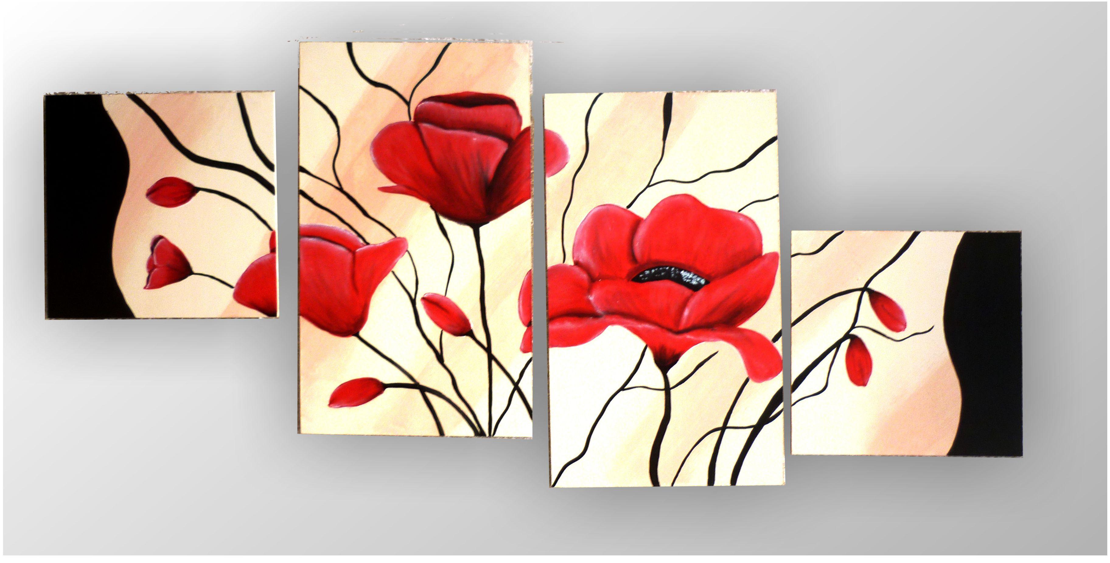 Cuadros modernos con flores pictures imagenes 2016 - Cuadros para comedor moderno ...