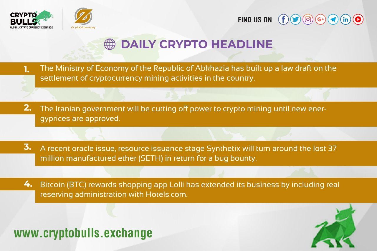 Daily Crypto Headline Crypto mining, Cryptocurrency