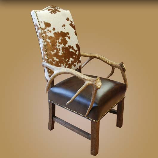 Antler And Cowhide Western Chair Set 2 Antler Furniture