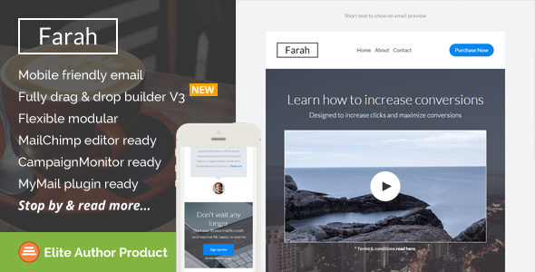 Farah Responsive Email Template Builder Access By Saputrad Farah