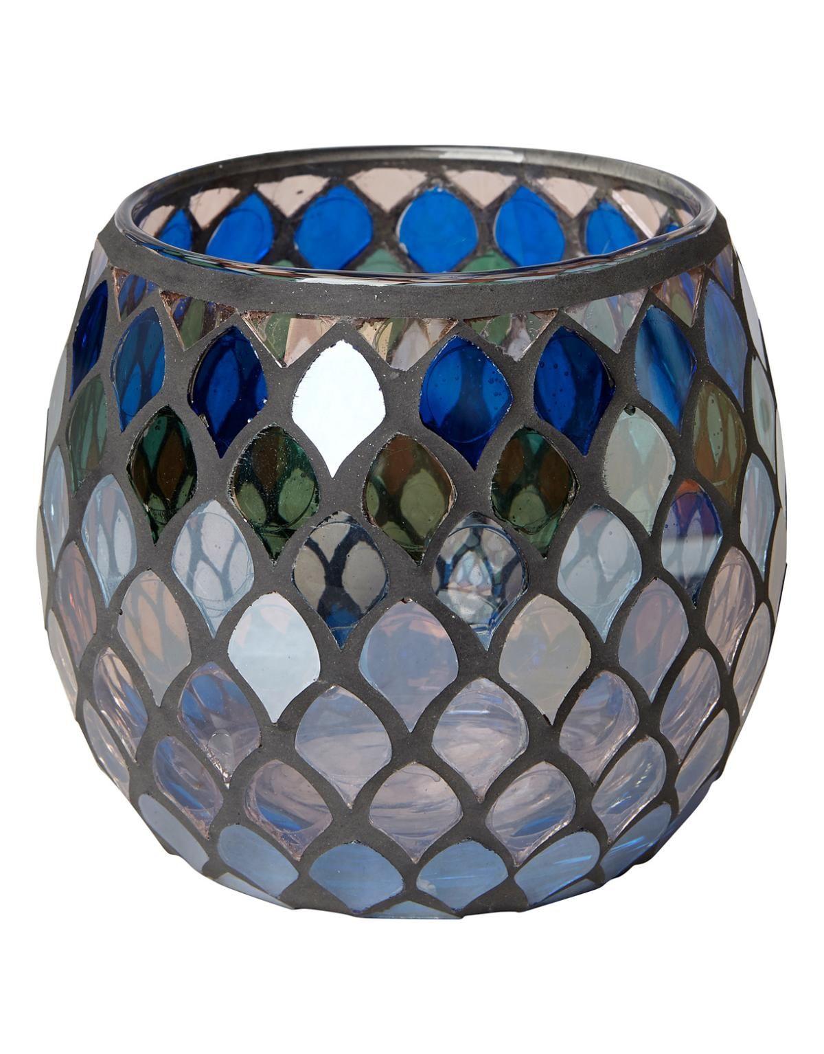 PEACOCK MOSAIC lykta blå | T-light standing | Ljus & lyktor | Home | INDISKA Shop Online