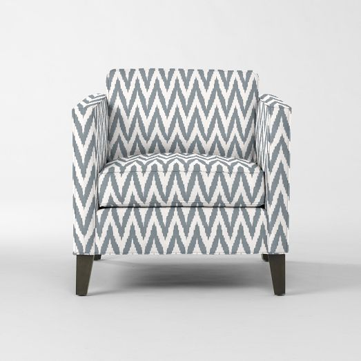 Nice Dunham Down Filled Armchair   Boxed (Prints) | West Elm
