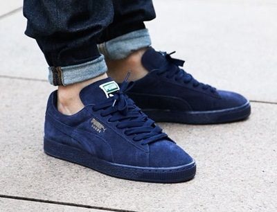 all navy puma suede