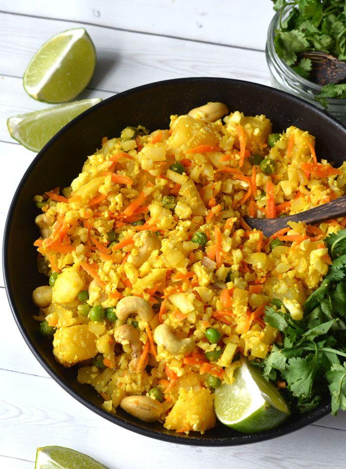 Pineapple Cashew Cauliflower Rice