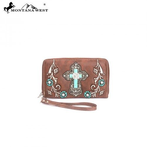 Montana West Spiritual Collection Floral Embroidery Wristlet Wallet – Handbag Addict.com