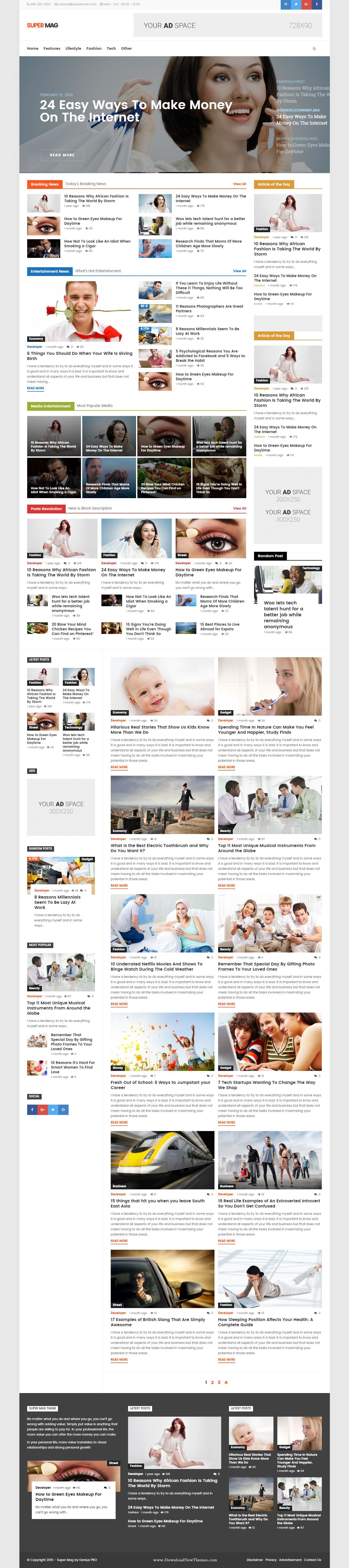 Super Mag - News Magazine and Blog WordPress Theme | Wordpress ...