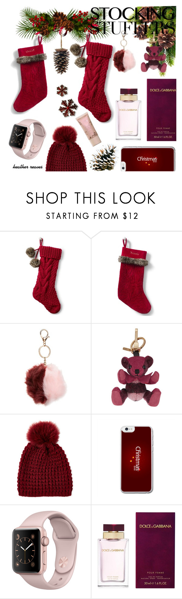 """""""Gift Guide: Stocking Stuffers"""" by heather-reaves ❤ liked on Polyvore featuring Lands' End, Topshop, Burberry, Kyi Kyi, Dolce&Gabbana and giftguide"""