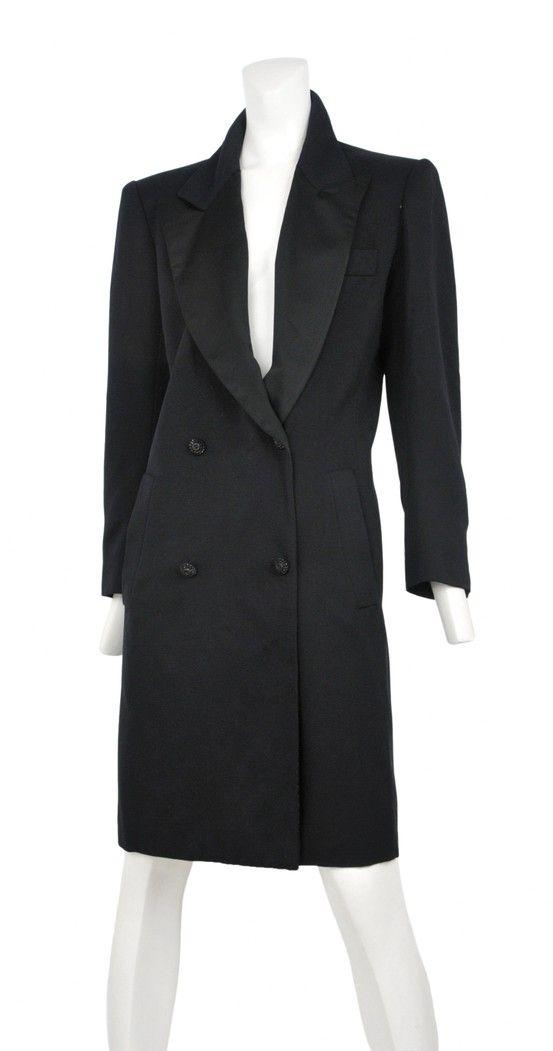 07073c3a008 Vintage Yves Saint Laurent Le Smoking Tuxedo Coat Dress@ Resurrection  Vintage #YSL