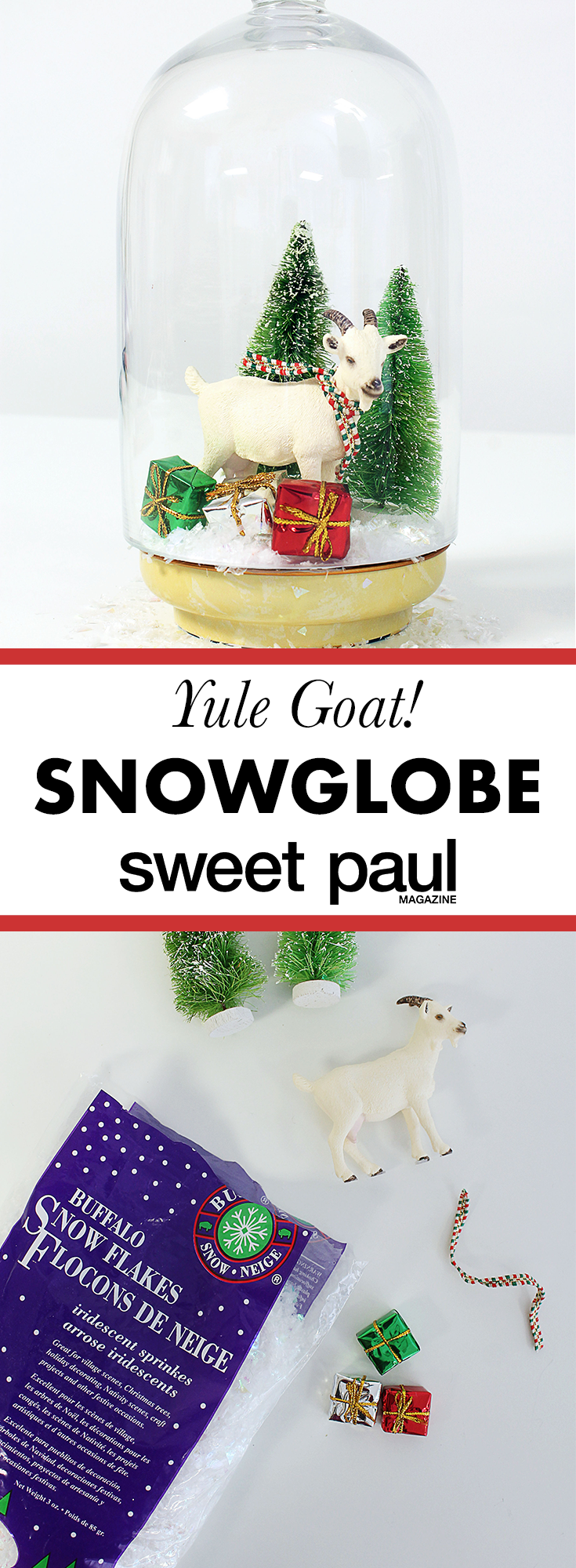 Yule Goat Snow Globe By Manal Aman Yule Goats And Craft