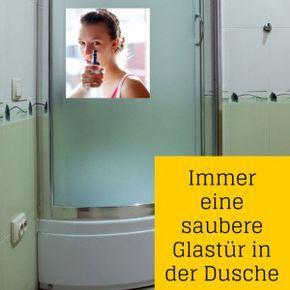 Sensationelle putztricks f rs badezimmer duschwand badezimmer und reinigen - Duschwand reinigen ...