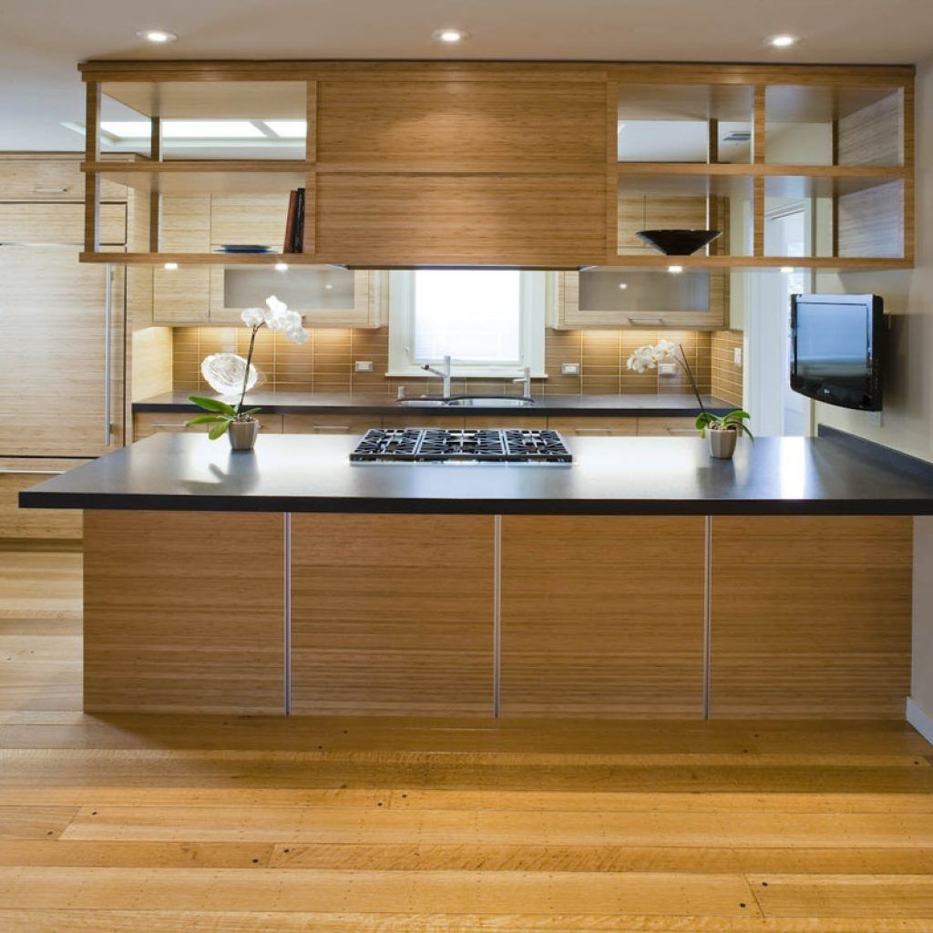 Incredible Kitchen Remodeling Ideas: U Shaped Kitchen Suspended Cabinets