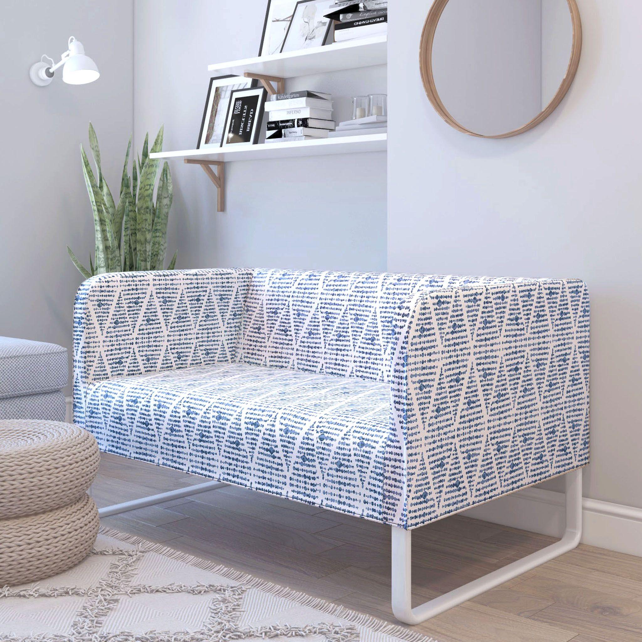 Boho Indigo Blue Print IKEA KNOPPARP Slip Cover