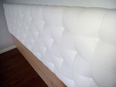 Wezgłowie Zagłówek łóżka 160x50 Biała Ekoskóra Mieszkanie