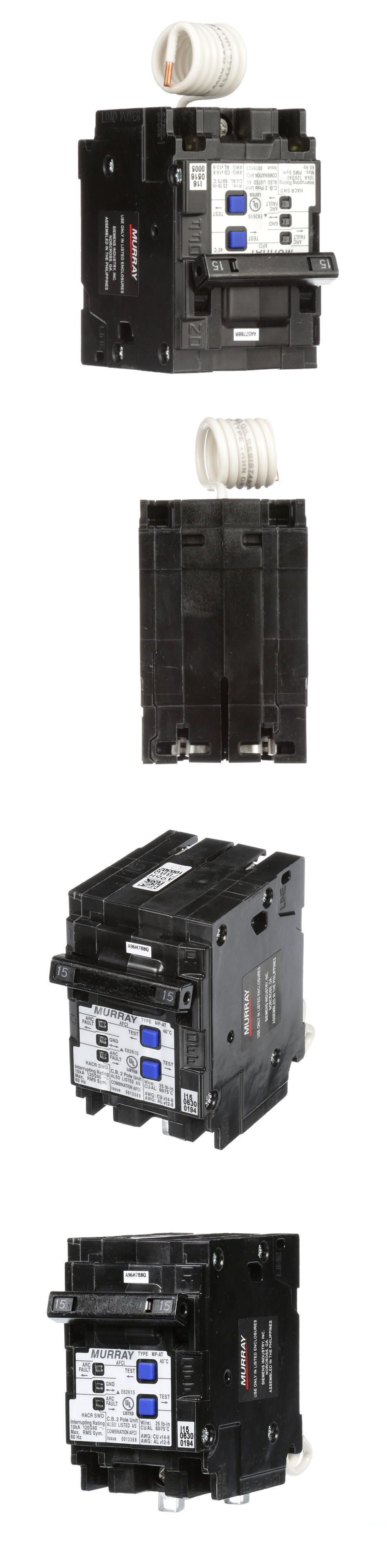 Murray 15 Amp Double Pole Type Mp At Combination Afci Circuit Breaker Box Including Ge Breakers And Fuse Boxes 20596