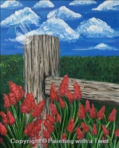 Public Country Fence 1 17 2016 Missoula Mt Summer Painting Painting Art