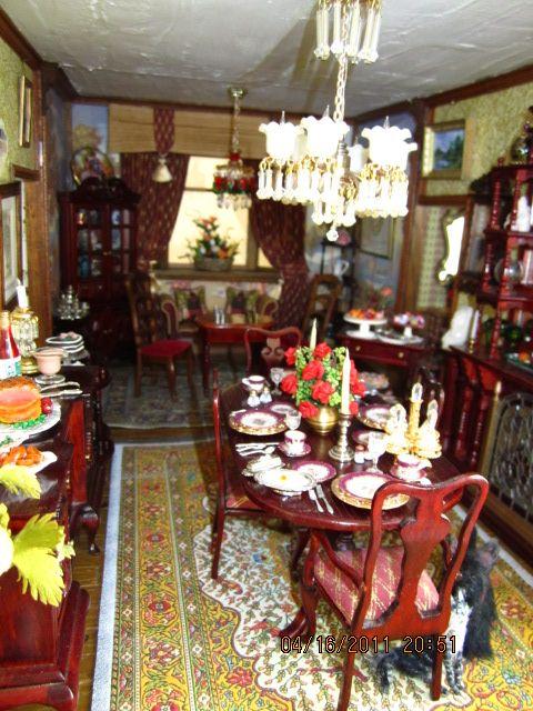 Victorian Dollhouses Dollhouse Dining Room Victorian Dollhouse Dolls House Interiors