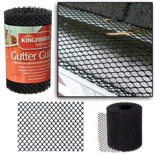Kingfisher Plastic Mesh Gutter Guard 3m X 16cm Gutter Guard Gutter Gutter Leaf Guard