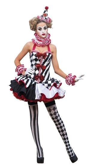 a7a2ac92a78a3 Modern Female Clown Outfit   jesters female outfits in 2019   Jester ...