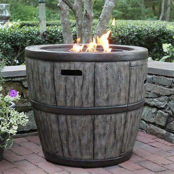 Costco Propane Tank Wine Barrel Fire Table 299