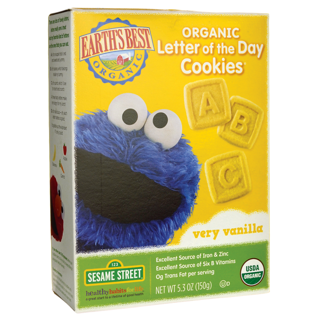 Organic Letter Of The Day Cookies Very Vanilla, 5.3 Oz