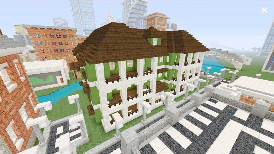 Minecraft mansion.