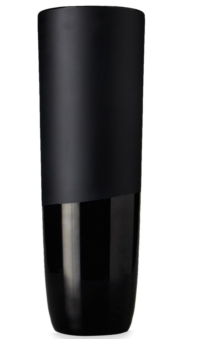 Pc606bl Baked Cylinder Glass Vase 6 X 6 6 Pc Black Black And