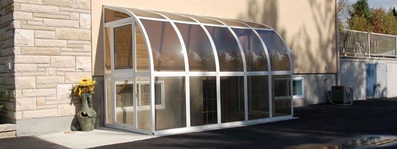 Enclosing A Basement Door Backyard Patio Building A Patio
