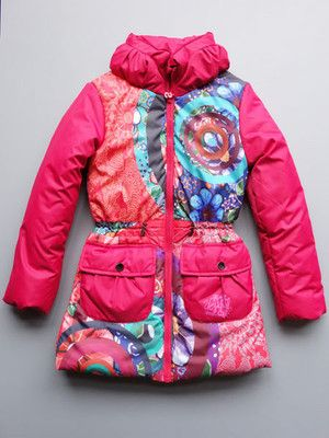 f28f9698e7808 Desigual Girls Agua Fuchsia Rose Coat