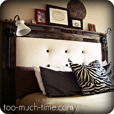 Reclaimed Wood And Tufted Fabric Headboard Best Of Both Worlds
