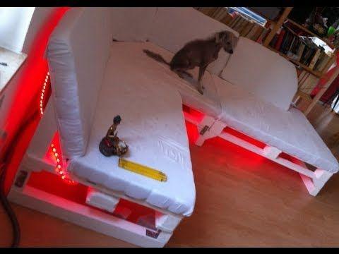 Sofa selber bauen - ein DIY-Sofa aus Paletten - YouTube DIY