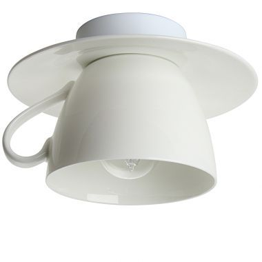 CAPPUCCINO Bone China Porzellan-Deckenleuchte in Tassenform - Lampen Suntinger Shop