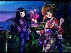 Kinomoto Sakura and Daidouji Tomoyo