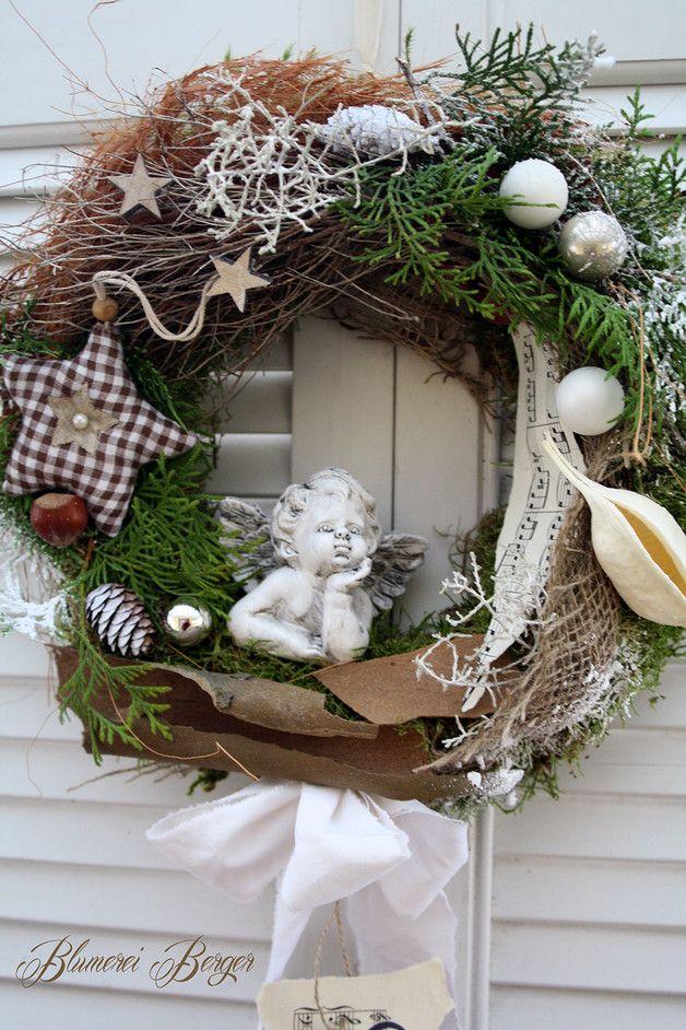 adventskranz weihnachtst rkranz engelchen. Black Bedroom Furniture Sets. Home Design Ideas