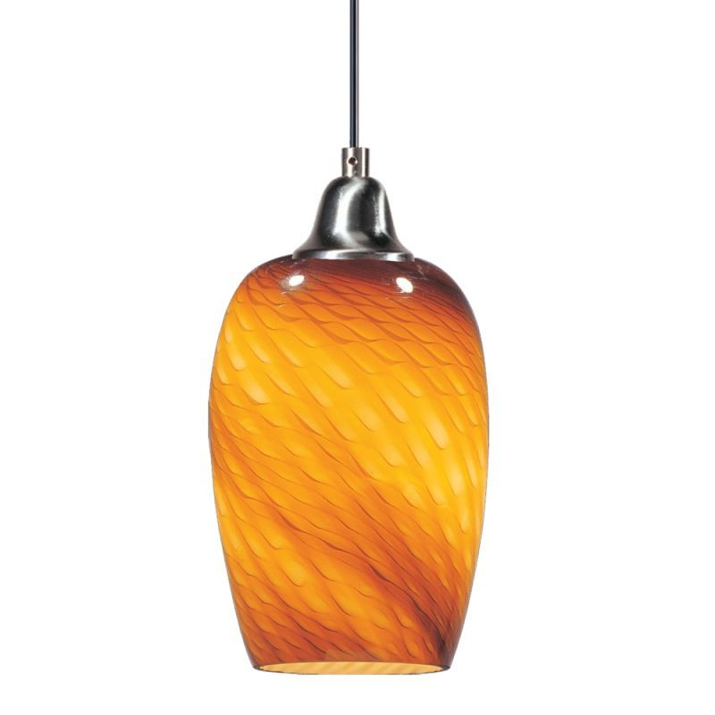 "ET2 E20202 1 Light 7"" Wide Pendant from the Hue Collection Amber Ripple Indoor Lighting Pendants"